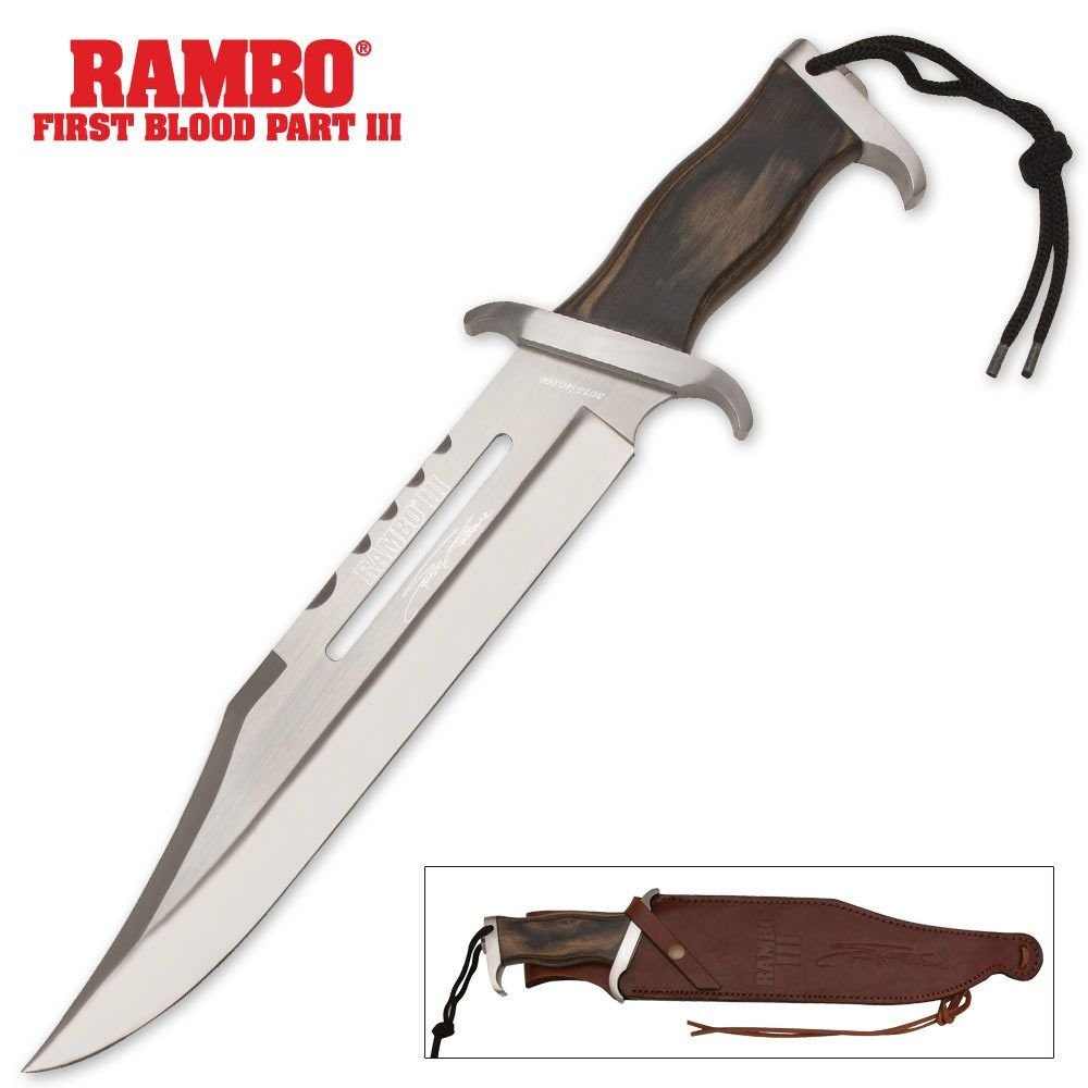 Rambo Knives Masterpiece Collection 3 Hollywood Sylvester Stallone Signature Edition Knife
